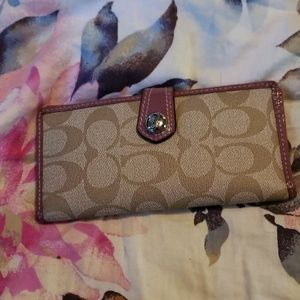 Coach checkbook & credit card wallet